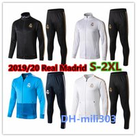 2019/20 Real Madrid Trainingsanzug Fußball Jacke voller Reißverschluss Trainingsanzug 2019 2020 real Madrid Maillot De Foot ISCO Survêtement Chandal