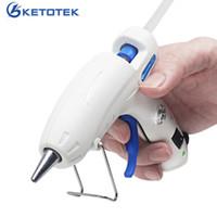Ketotek US Plug Hot Melt Glue Gun 30w Enxerto Reparo Thermo Heat Tool Home Industrial DIY Art Craft 7x100mm cola vara