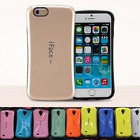 Iface Mall Case Pour Iphone 6 7 8 plus X cas Pour Galaxy Note 8 note 9 S8 S9 PLUS antichoc Hybride Bonbons Couleurs Cas Opp package