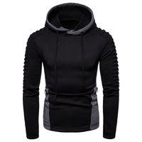 Mens Panelled drapierte Designer Hoodies dünner Pullover Zipper Sweatshirt Langarm-Mode-Männer Tops