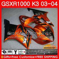 Rahmen für Suzuki GSX-R1000 GSXR 1000 GSXR1000 03 04 Körper 15hc.44 Körperarbeit Orange Black GSX R1000 K3 GSXR-1000 03 04 2003 2004 Verkleidung Kit