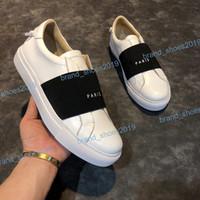 2021Top Qualidade Mens Mulheres Couro Casual Sapatos Moda Branco Apartamento Ao Ar Livre Vestido Diário Festa com Caixa