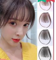 bangs ar Real cabelo feminino net falsos franja vermelha invisível perfeita barbear Qi Liuhai fofo extensão natural do cabelo