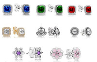 Authentic Stud Earrings, Timeless Elegance, Clear CZ fits fo...