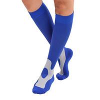 ROPALIA Moda Unisex Uomo Donna gamba di sostegno stirata Compression Socks sotto il ginocchio Calze