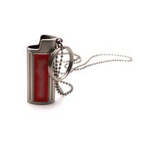 Halskette Anhänger Holster Leichter Shell Sleeve Schlüsselanhänger Schutzhülle Haut Tragbare Innovative Design Für Zigarette Herb Bong Pfeife