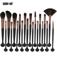 MAANGE 20 stücke Kosmetik Make-Up Pinsel Set Powder Foundation Lidschatten Eyeliner Lippenpinsel Werkzeug Marke Make-Up Pinsel Schönheit Werkzeuge