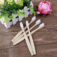 MOQ 200pcs Natural Family Bamboo Toothbrush set Soft Bristle...