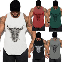 Men Gym Muscle Bodybuilding Sleeveless Shirt Tank Top Single...