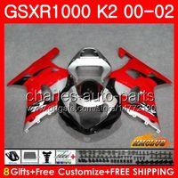 Bodys For Suzuki GSXR 1000 GSX-R1000 GSXR1000 00 01 02 Frame 14HC.50 GSX R1000 K2 00 02 GSXR-1000 2000 2001 2002 RODE STAIL NIEUWE FUNLINGSET
