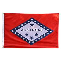 Arkansas State Flag AR State Flag 3x5FT Banner 100D Polyester 150x90cm Messingösen individuelle Flagge, freies Verschiffen