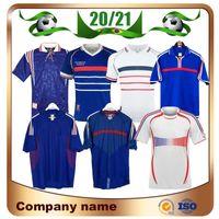 1998 versión retro FRANCIA camiseta de fútbol 96 98 02 04 06 ZIDANE HENRY camisa MAILLOT DE PIE fútbol uniforme de fútbol 2000 Inicio Trezeguet