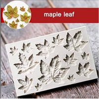Sales!!1 Maple Leaves Silicone Cake Decorating Mold Chocolat...