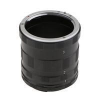 Metall makro förlängningsadapter rörring för Nikon F Mount D3200 D3300 D3400 D5200 D5300 D5500 D90 D7500 D200 D300 D600