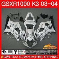 鈴木GSX-R1000 GSXR 1000 GSXR1000 03 04ボディ15HC.13 BodyWork White Sale GSX R1000 K3 GSXR-1000 03 2003 2004フェアリングキット
