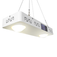عكس الضوء كري CXB3590 200W البوليفيين الصمام تنمو ضوء الطيف الكامل مع شاشة LCD الموقت درجة الحرارة للسيطرة على نبات داخلي تنمو كل مرحلة