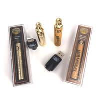Hottest Brass Knuckles Einstellbare Spannung Batterie 650mAh Gold 900mAh Woods 3.2v-3.7v-4V Vorwärmen Vape Pen für angeschlossene Abracadabra-Patrone