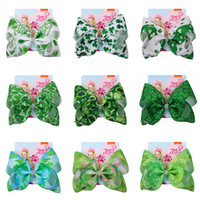 Vert JOJO SIWA Cheveux Arcs 8 pouces Clover Leaf Barrettes Cheveux Pinces À La Mode Enfants Enfants Barrettes Épingle À Cheveux Cheveux Accessoires pour Bébés