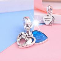 2020 Новый S925 стерлингового серебра Леди и Бродяга Сердце мотаться Charm бисера Подходит для европейского Pandora Ювелирные изделия Браслеты Ожерелья Подвески