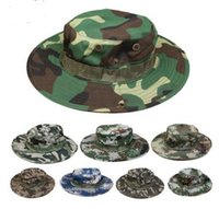 Cotton bucket hat men Military Camouflage Camo Fisherman Hat...