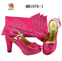 Dgrain Hohe Qualität verziert mit Strass New Fashion italienische Damenschuhe und passende Clutch
