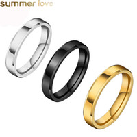 4mm 6mm 8mm Stainless Steel Rings For Men Women High Polishe...