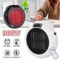 900W Mini Portátil Calentador eléctrico Calefacción Calefacción Cálidos Aires Fans Inicio Oficina Muro Calentadores de Aire Historia Cuarto de baño Radiador Radiador Ventilador