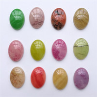 100 pieces lot Resin Oval 13x18mm 12 Colors Cabochon Domes F...