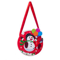 Chrismas Candy Bags 8 Designs Schneemann Weihnachtsmann Gedruckte Geschenkverpackung Home Decoration Accessoroes Party Supplies 08