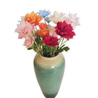 """Falso solo tallo del narciso (3 cabezas / manojo) 25.6"""" Longitud Simulación jacinto para el hogar decorativo de la boda flores artificiales"""