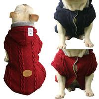 대형 작은 개 고양이 의류 애완 동물 개 코트 스웨터 개 자켓 치와와 T 셔츠 애완 동물 조끼 가을 겨울 따뜻한 개 의류