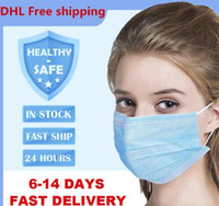 2020 Disposable Face Mask 3 Layers Dustproof Facial Protecti...