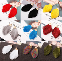 Women Bohemia Tassel Earrings Tassel Fringe Earrings Fashion Long Tassel Dangle Earring Eardrop
