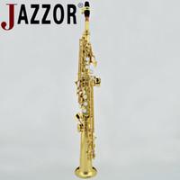 المهنية سوبرانو ساكسفون jazzor JBSST-400 b شقة مستقيم السوبرانو ساكسفون الذهب ورنيش النحاس أدوات الرياح مع حالة