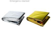 Открытые чрезвычайное одеяло первой помощи, чтобы поддерживать температуру человеческого тела первой помощи одеяло туристского снаряжение портативных аварийное одеяло пятно бесплатно