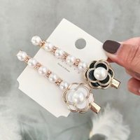 5 pcs Vintage Metal Imitiation Pearl Hairpins Women Korea Me...