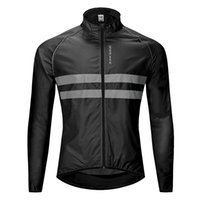 High visibility riding jacket breathable windproof reflectiv...