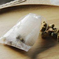 مواد جديدة أكياس الشاي 100 قطع ألياف الذرة عشبة infuser تحلل بيور الأخضر المتاح أكياس الشاي الفارغة مع سلاسل