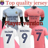 Player version 20 21 Real Madrid Hazard soccer jersey 2020 2...