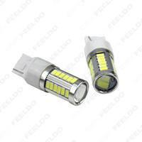 Vente en gros Blanc 7440 5630SMD 33LED 850LM voiture LED clignotant frein queue ampoule prise # 5293