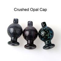 Nuovi bolla di vetro Carb Cap sfera Crused Opal Carb Cap per 20 millimetri 25mm quarzo Banger vetro acqua Bong Dab Rig somking Accessori