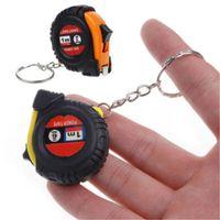الإبداعية قابل للسحب حاكم الشريط الأطفال ارتفاع قياس مفتاح سلسلة مصغرة جيب سحب متري 1 متر كيرينغ سلسلة المفاتيح لون عشوائي