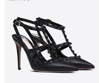 2022 donne tacchi alti sandali di cuoio scarpe da sposa verniciata rivetti sandali delle donne borchie Strappy Abito scarpe contro l'alto calza + box