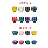 510 810 Thread Drip Tips Resin Snake Skin Mouthpiece for TFV...