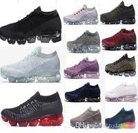 2018 Mens Vaporfly nuevo diseñador de moda los zapatos para correr para mujeres de los hombres al por mayor de instinto Triple Negro Trainer Deportes zapatillas de deporte del colchón de aire
