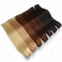 Бразильские плакаты волос Прямые 100 г 100% наращивание человеческих волос натуральный черный коричневый серый розовый красный высококачественный фабрика прямой дешевый