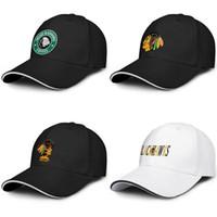 Chicago Blackhawks de hockey sobre hielo amarilla Conductor de camión Sandwich ajustable moda del sombrero de encargo gorra del equipo logotipo de Starbucks Verde primaria