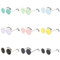 Новый стиль ослепить цвет модные солнцезащитные очки ретро евро-американский маленький круглый кадр принц очки горячие продажи декоративные солнцезащитные очки T9C00130