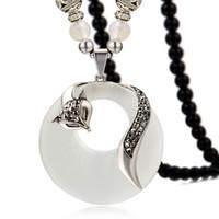 20 pièces par lot en forme de pendentif vintage collier de perles collier collier stylo personnalisé avec pendentif en forme de renard en gros à la mode collier de charme