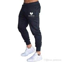 남성 새로운 바지 피트니스면 바지 패션 캐주얼 바지 꽉 졸라 매는 끈 인쇄 남성 스트레치 스웨트 팬츠 스포츠웨어